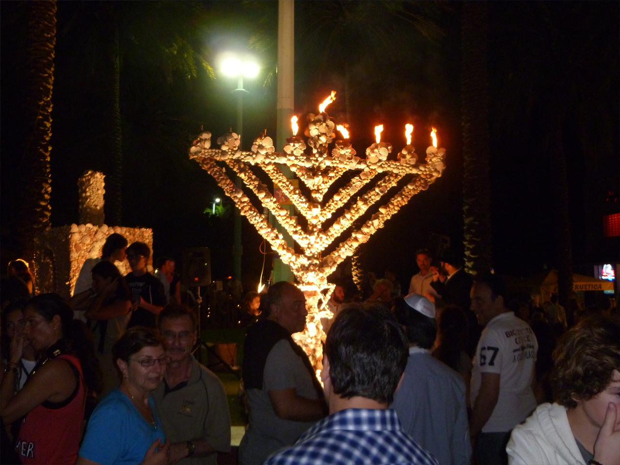 Image result for miami beach menorah lincoln road