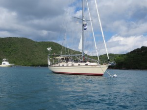 Cutter Loose at anchor in Francis Bay, St. John, USVI