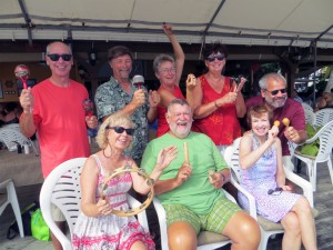 Island Packeteers at Prickly Bay Boxing Day pot luck