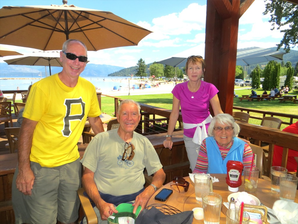 Chillin' with Barbara and Darwin in Sandpoint, Idaho