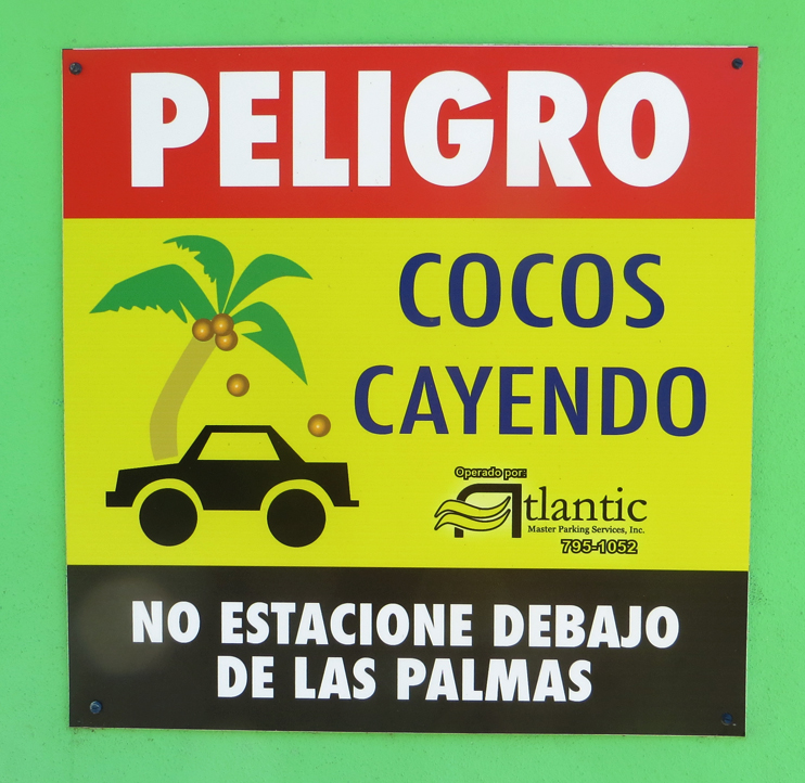 Peligro sign