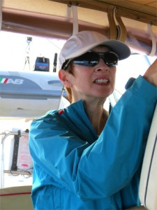 Pat at helm