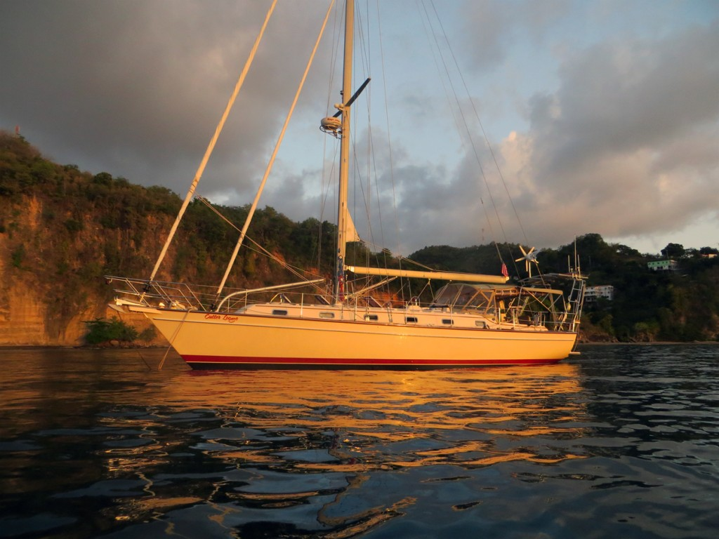 at anchor in Canaries, St. Lucia