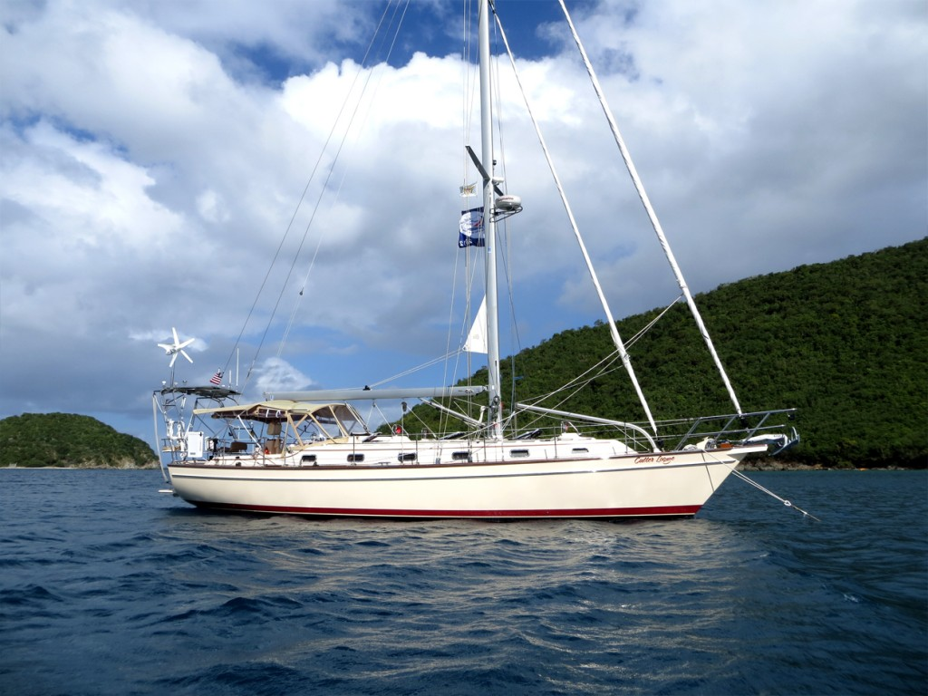 at anchor, Francis Bay, St. Johns, USVI