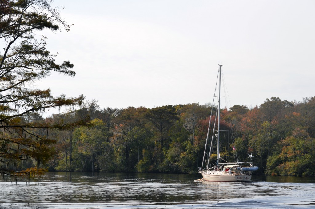 underway in the ICW along the Waccamaw River, South Carolina
