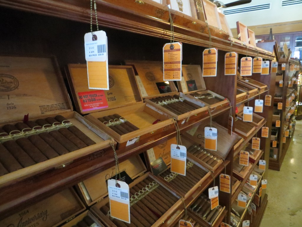 Aisle of cigars
