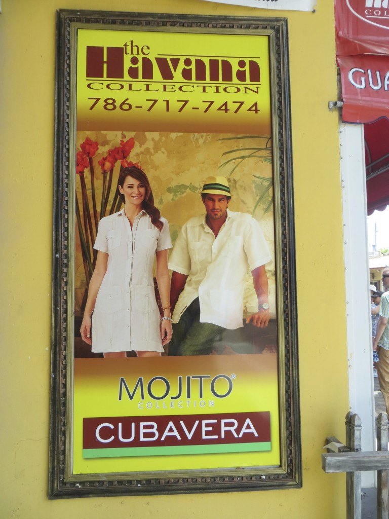Cuban clothing ad