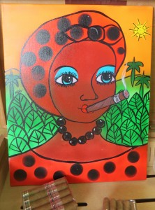 Painting cigar woman
