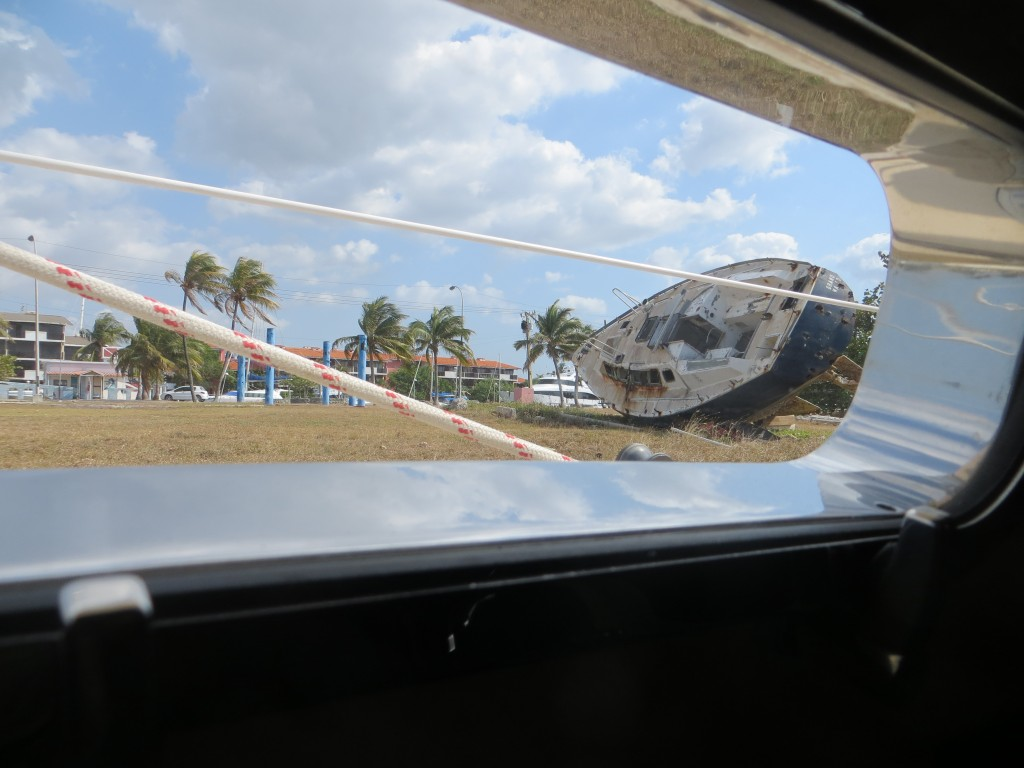 boat through porthole